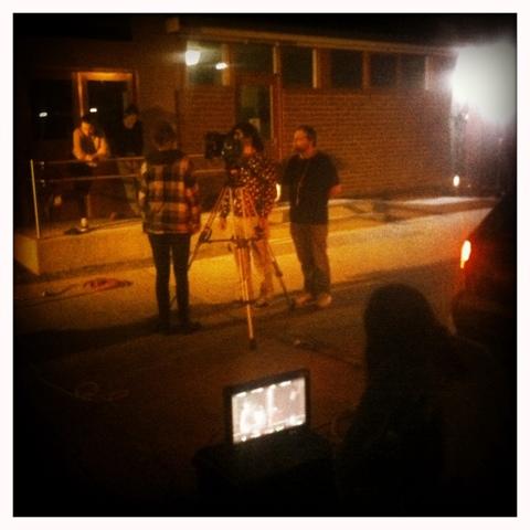 Day 194. Late Night Film Set