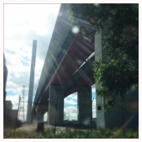 Day 747. Under the bridge downtown…