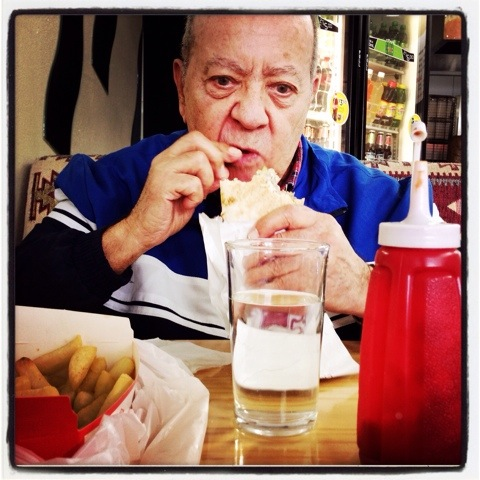 Day 1190. kebab with dad…