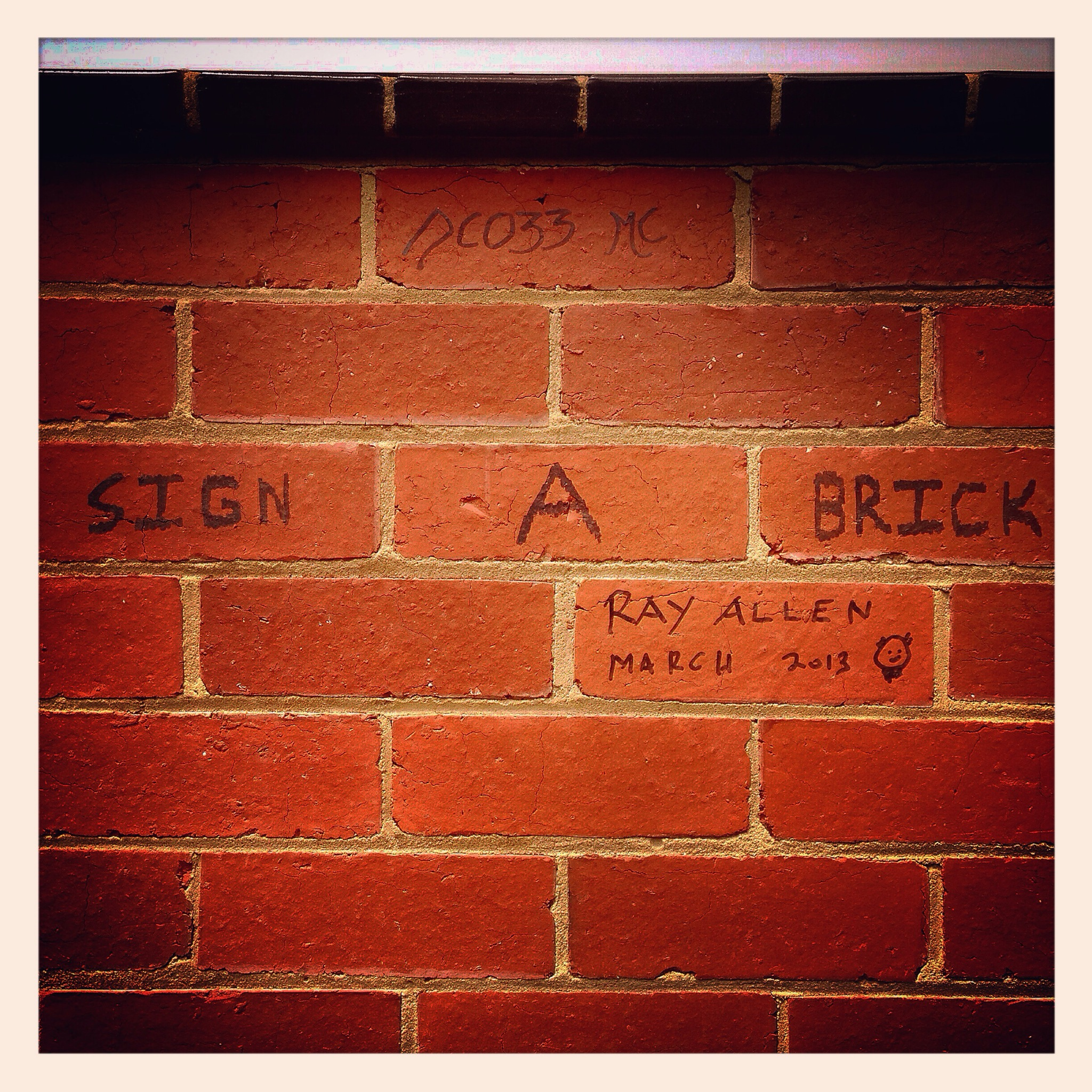 Day 1321. sign a brick!…