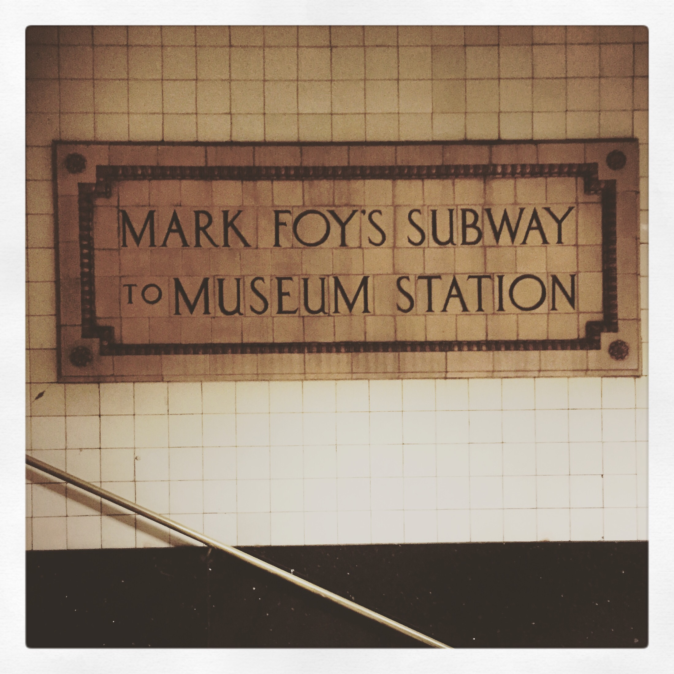 Day 1627. Mark foys subway…